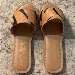 Genuine Calf Hair Slide Sandal